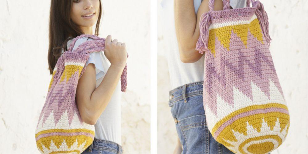 Andes Sunrise Bag [FREE Crochet Pattern]   thecrochetfox.com