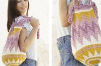 Andes Sunrise Bag [FREE Crochet Pattern] | thecrochetfox.com