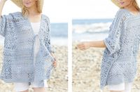Blue Annabelle Crochet Long Jacket [FREE Crochet Pattern] | thecrochetfox.com