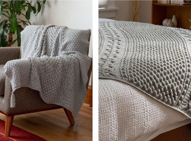 Ashmont Crocheted Aran Afghan [FREE Crochet Pattern] | thecrochetfox.com
