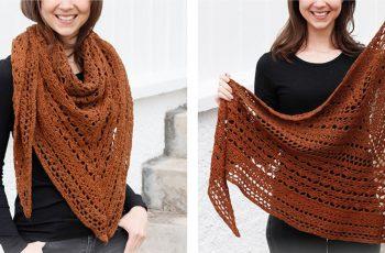 Autumn Ballad Crochet Shawl [FREE Crochet Pattern]   thecrochetfox.com