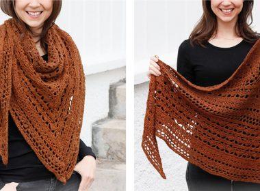 Autumn Ballad Crochet Shawl [FREE Crochet Pattern] | thecrochetfox.com