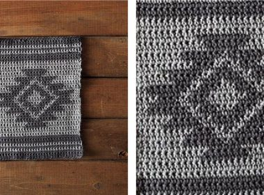 Elegant Aztec Crochet Dishcloth [FREE Crochet Pattern] | thecrochetfox.com