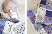 Baby Squares Crocheted Blanket [FREE Crochet Pattern] | thecrochetfox.com
