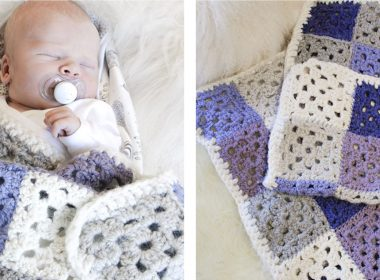 Baby Squares Crocheted Blanket [FREE Crochet Pattern]   thecrochetfox.com