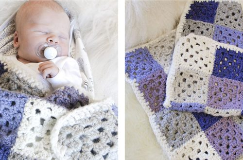 Baby Squares Crocheted Blanket [FREE Crochet Pattern] | thecrochetfox.com