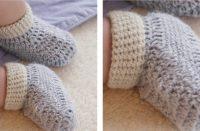 Baby Steps Crochet Slippers [FREE Crochet Pattern] | thecrochetfox.com