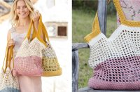 Back to the Beach Crochet Bag [FREE Crochet Pattern] | thecrochetfox.com