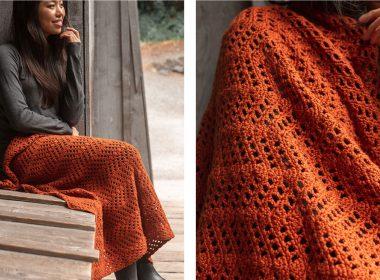 Bambino Ripple Crochet Blanket [FREE Crochet Pattern] | thecrochetfox.com