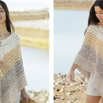 Beach Paradise Crocheted Poncho [FREE Crochet Pattern]