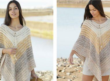 Beach Paradise Crocheted Poncho [FREE Crochet Pattern] | thecrochetfox.com