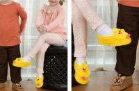 Bear and Chick Crochet Slippers [FREE Crochet Pattern] | thecrochetfox.com