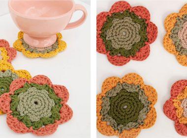 Blooming Coasters Pattern [FREE Crochet Pattern] | thecrochetfox.com