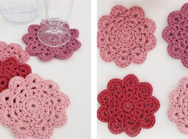 Blushing Crochet Coasters [FREE Crochet Pattern] | thecrochetfox.com