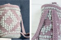 Bobble Crochet Bucket Bag [FREE Crochet Pattern] | thecrochetfox.com