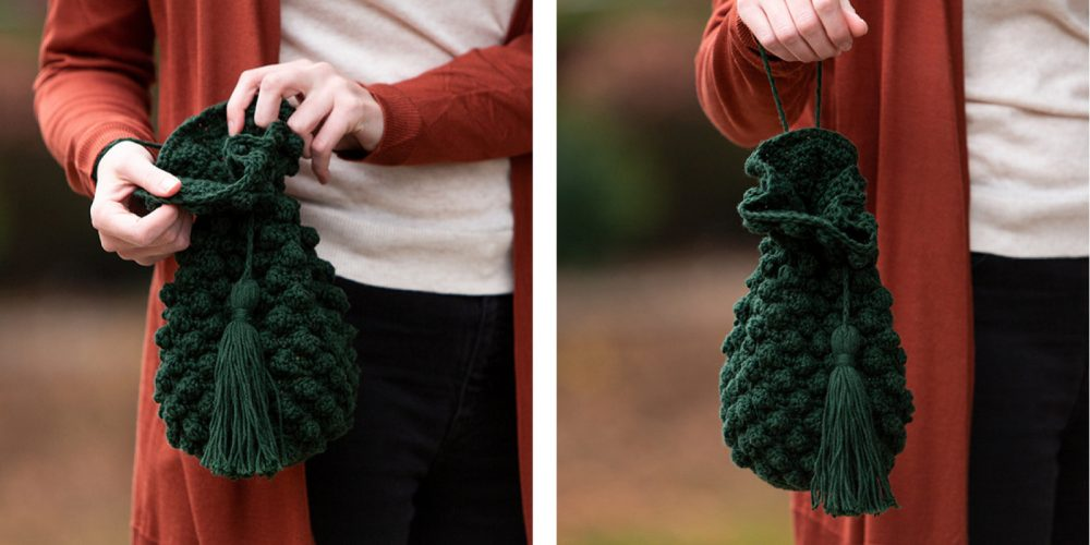 Bobble Stitch Crochet Bag [FREE Crochet Pattern] | thecrochetfox.com