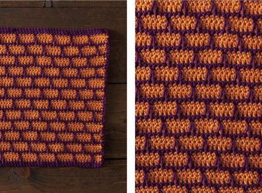 Brick-a-Brack Dishcloth [FREE Crochet Pattern] | thecrochetfox.com