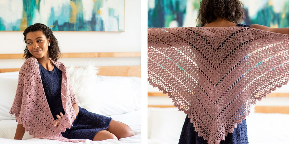Bridesmaid Crocheted Shawl [FREE Crochet Pattern] | thecrochetfox.com