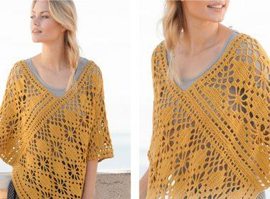 Butterfly Migration Poncho [FREE Crochet Pattern] | thecrochetfox.com