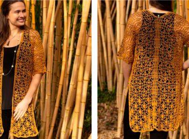 Calathea Cardigan Pattern [FREE Crochet Pattern] | thecrochetfox.com
