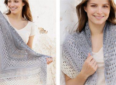 Calm Shores Crochet Shawl [FREE Crochet Pattern] | thecrochetfox.com