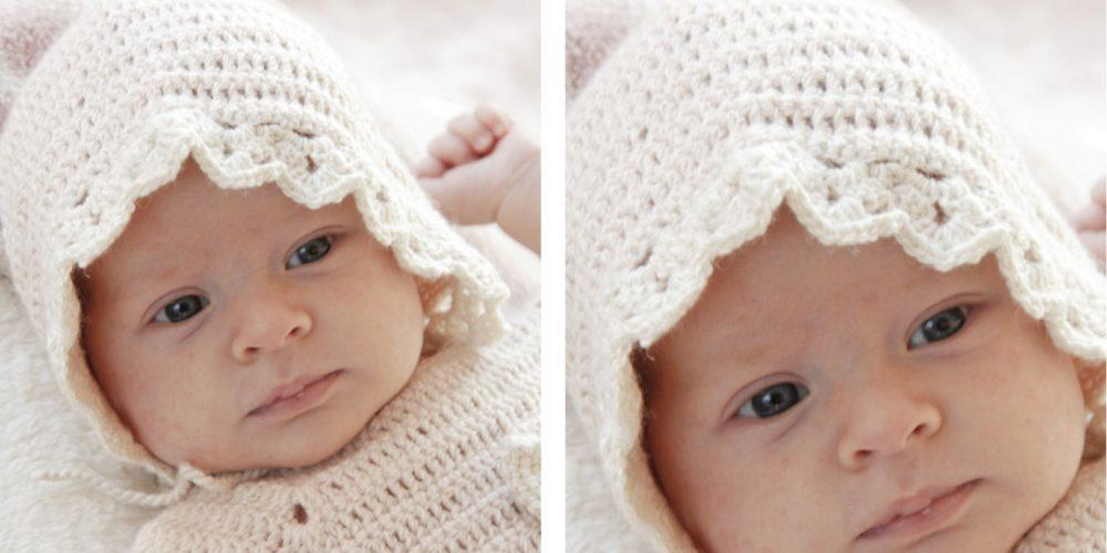 Camille Crochet Baby Bonnet [FREE Crochet Pattern] | thecrochetfox.com