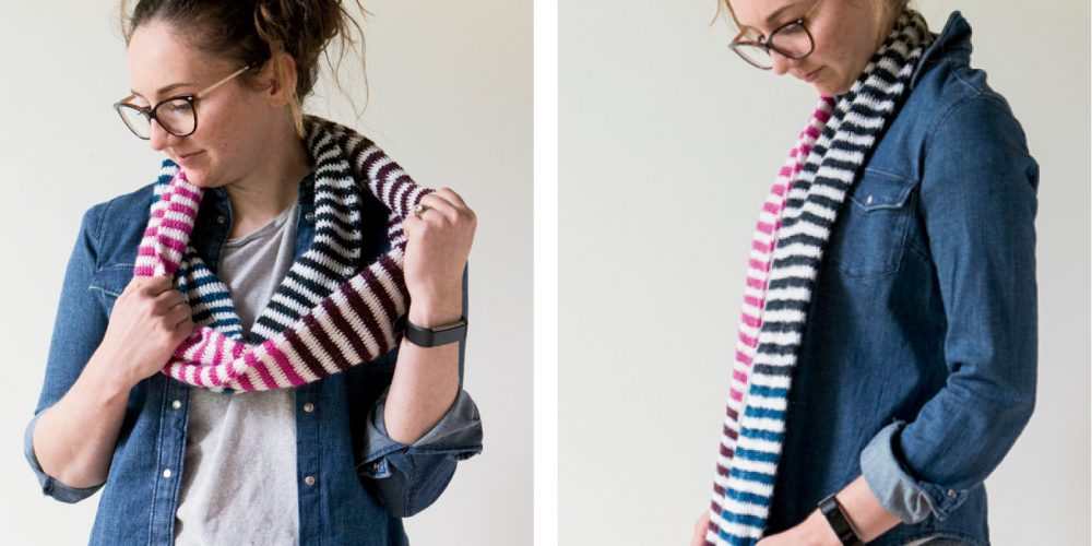 Candy Stripes Crochet Scarf [FREE Crochet Pattern] | thecrochetfox.com