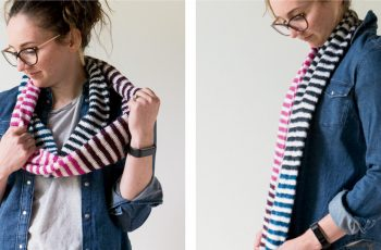 Candy Stripes Crochet Scarf [FREE Crochet Pattern]   thecrochetfox.com