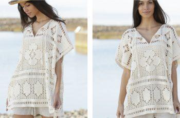 Carefree Summer Crochet Poncho [FREE Crochet Pattern] | thecrochetfox.com