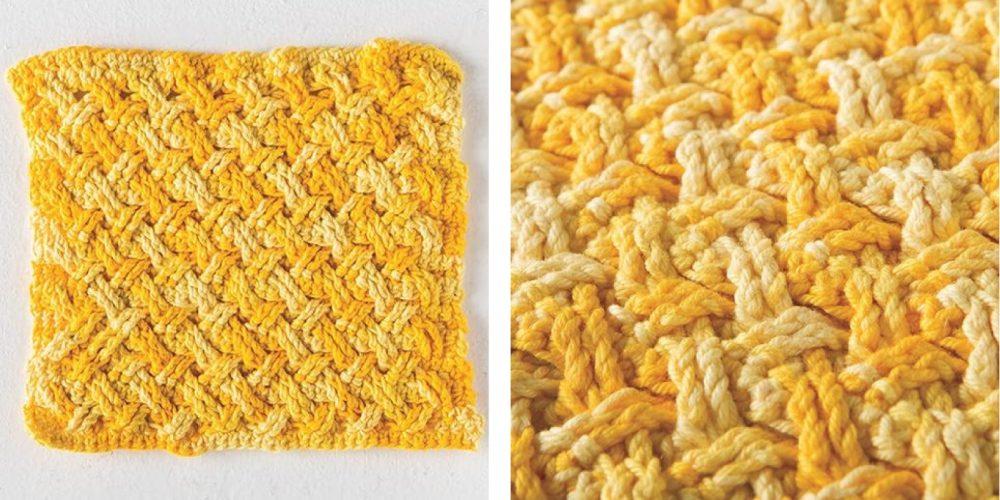 Crochet Celtic Weave Dishcloth [FREE Crochet Pattern]   thecrochetfox.com