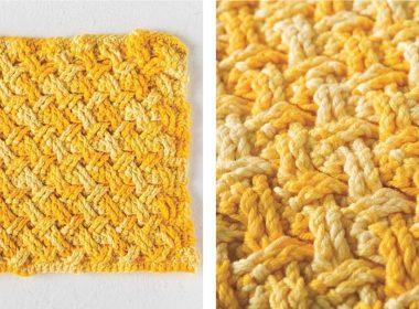 Crochet Celtic Weave Dishcloth [FREE Crochet Pattern] | thecrochetfox.com