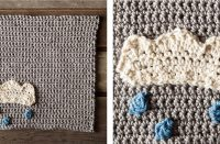 Chance Of Rain Dishcloth [FREE Crochet Pattern] | thecrochetfox.com