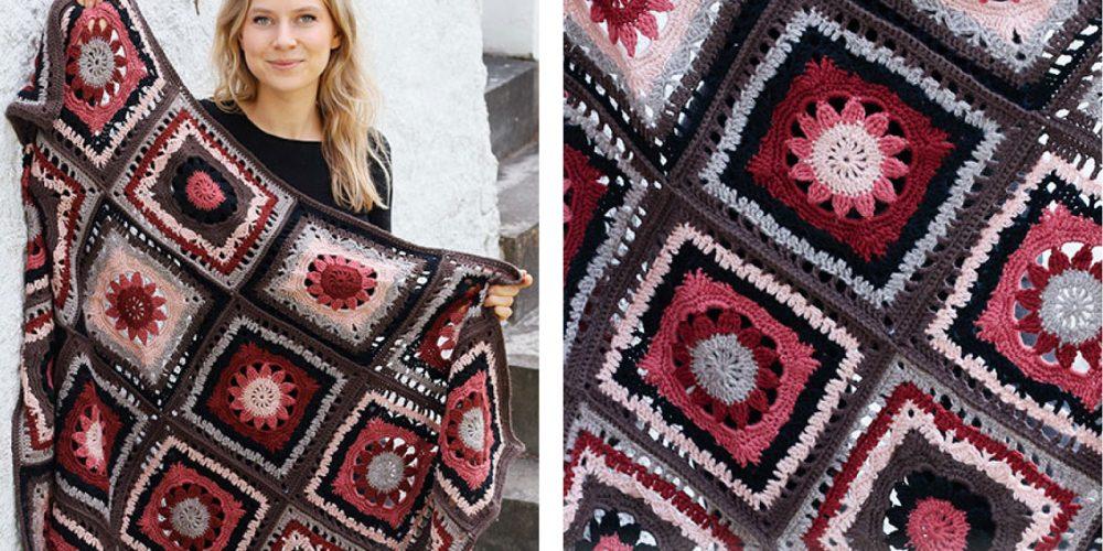 Chocolate Box Crocheted Blanket [FREE Crochet Pattern] | thecrochetfox.com