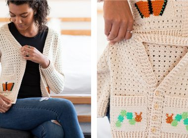 Chrysalis Cardigan Set [FREE Crochet Pattern] | thecrochetfox.com