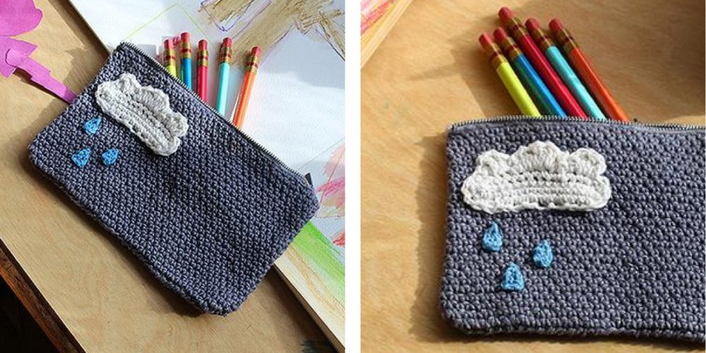 Charming Cloud Crochet Case [FREE Crochet Pattern]   thecrochetfox.com