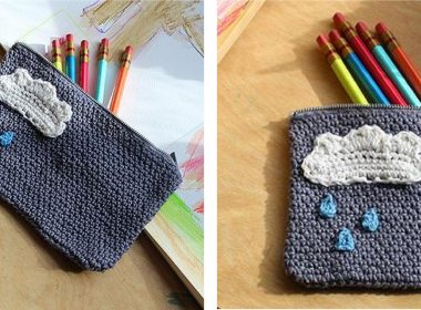 Charming Cloud Crochet Case [FREE Crochet Pattern] | thecrochetfox.com
