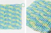 Colored Chevron Crochet Dishcloth [FREE Crochet Pattern] | thecrochetfox.com
