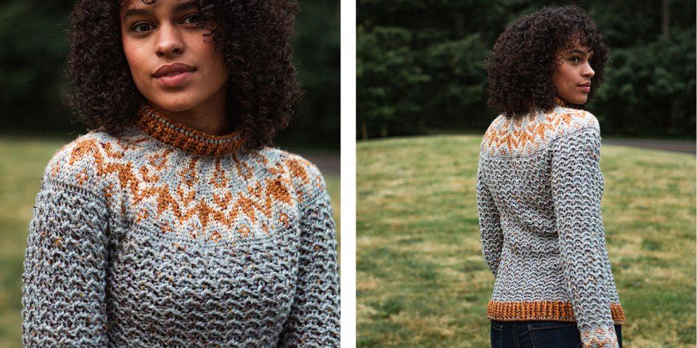 Colorwork Yoke Sweater [FREE Crochet Pattern]   thecrochetfox.com