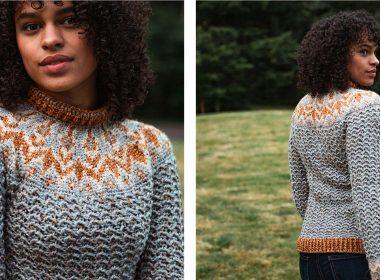 Colorwork Yoke Sweater [FREE Crochet Pattern] | thecrochetfox.com