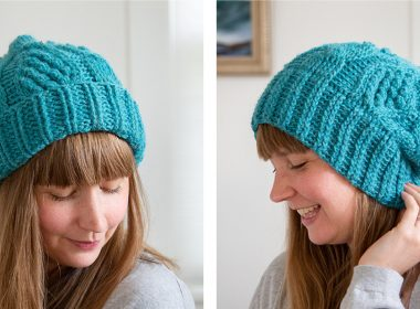 Crocheted Columbia River Cabled Hat [FREE Crochet Pattern] | thecrochetfox.com