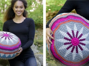 Comfy Marrakesh Crocheted Pouffe [FREE Crochet Pattern] | thecrochetfox.com