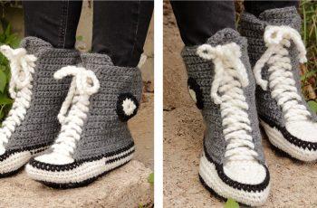 Cool Kicks Crocheted Slippers [FREE Crochet Pattern]   thecrochetfox.com