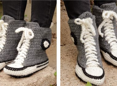 Cool Kicks Crocheted Slippers [FREE Crochet Pattern] | thecrochetfox.com