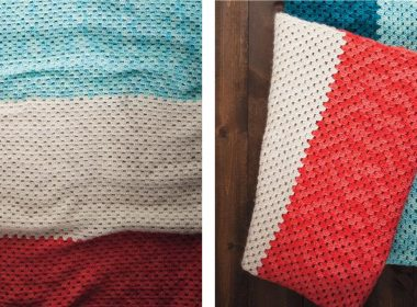 Crochet Beginner Blanket [FREE Crochet Pattern] | thecrochetfox.com