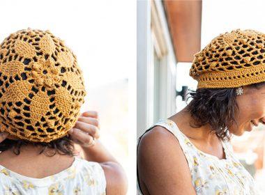 Crochet Daisy Mandala Beanie [FREE Crochet Pattern] | thecrochetfox.com