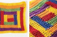 Crochet Log Cabin Dishcloth [FREE Crochet Pattern] | thecrochetfox.com