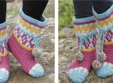 Crochet Rock Them Socks [FREE Crochet Pattern] | thecrochetfox.com
