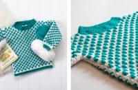 Crocheted Baby Bobble Jumper [FREE Crochet Pattern] | thecrochetfox.com