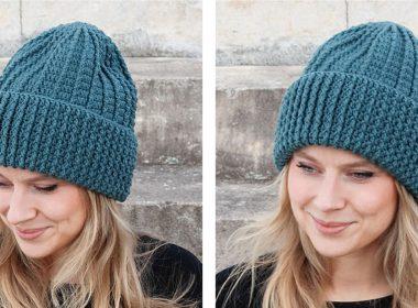 Crocheted Deep December Fjords Hat [FREE Crochet Pattern] | thecrochetfox.com