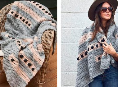 Dot to Dot Crochet Lapghan [FREE Crochet Pattern] | thecrochetfox.com
